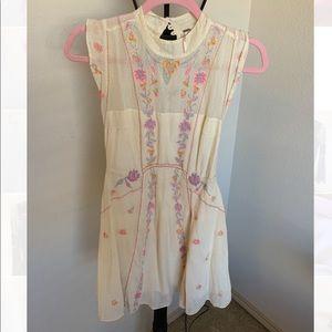 Free people floral mesh dress